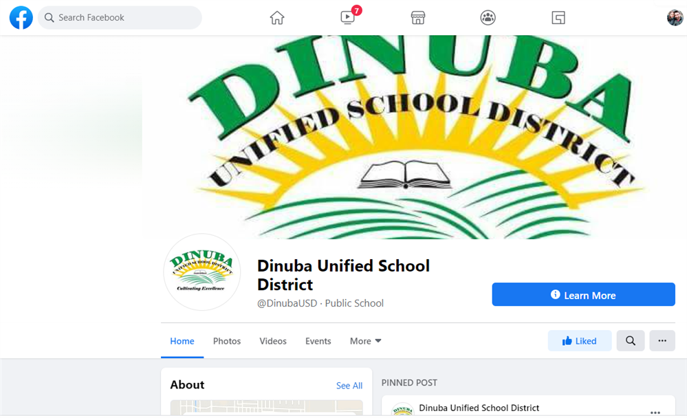 Dinuba Unified Launches Facebook page