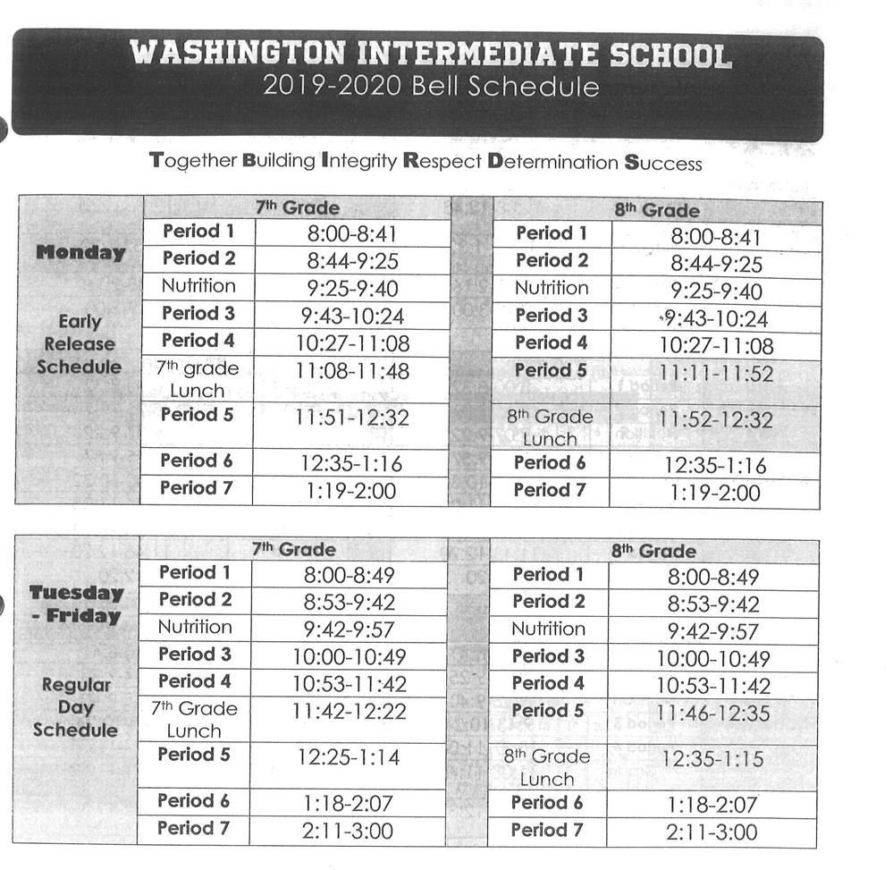 sierra high school bell schedule