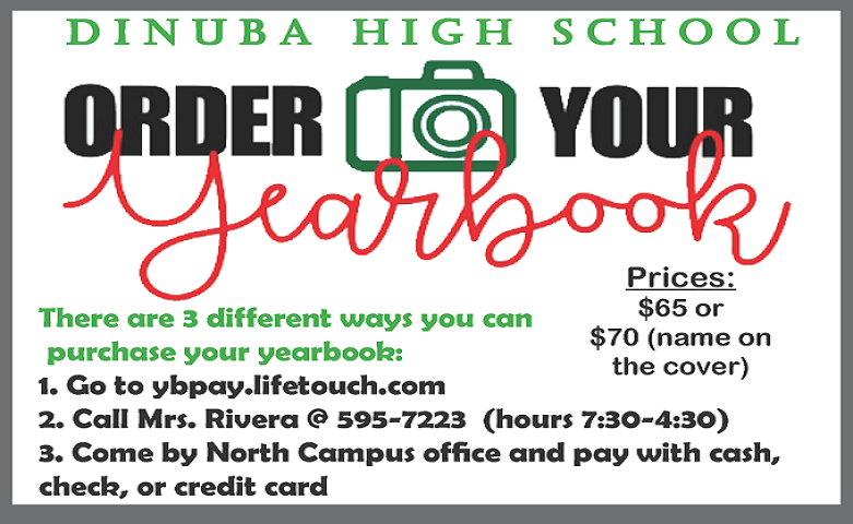2020-2021 Yearbook Sale
